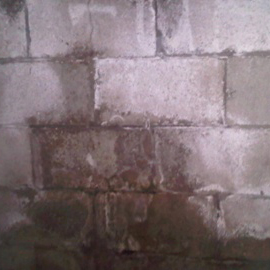 water staining is indicative of foundation damage