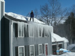 prevent ice and snow from causing a damaged roof