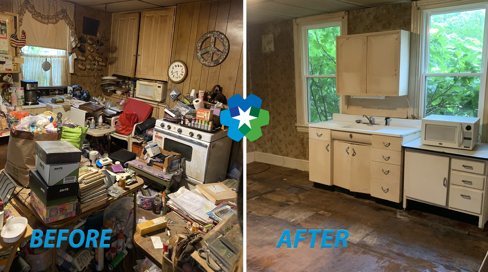 Junk Removal Before & After Delran NJ 08075